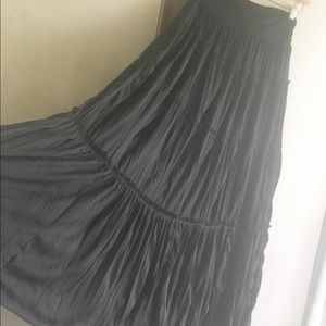 gorgeous long black layered Candies skirt M